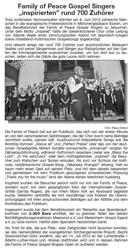 Nachbericht Brunnenecho Juli 2013